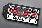 image of barcode  - quality barcode with stainless steel background - JPG