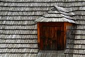 picture of shingles  - architecture background shed on the roof shingles - JPG