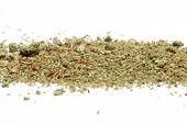 stock photo of cannabis  - marijuana bud on a white background - JPG