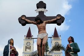 image of atonement  - Our Lady of Atonement Cathedral in the summer capital of the Philippines - JPG