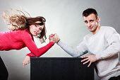 pic of wrestling  - Partnership relationship concept - JPG