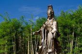 pic of goddess  - Guan Yin Goddess of Mercy bronze statue in Bamboo Garden - JPG