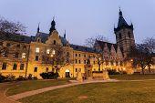 stock photo of municipal  - New Town Hall and Prague Municipal Court - JPG