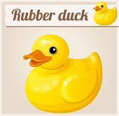 stock photo of ducks  - Yellow rubber duck - JPG