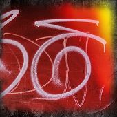 image of fragmentation  - fragments of pictures of graffiti in the urban environment - JPG