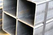 picture of foundation  - metal profile square tube foundation for building structures steel - JPG