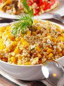 foto of quinoa  - Quinoa with corn and dill salad - JPG