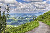 image of bavaria  - Landscape on the mountain Alpspitz near Nesselwang in the Allgaeu Bavaria Germany - JPG