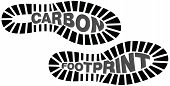 stock photo of carbon-footprint  - Vector illustration of carbon footprints with the words carbon footprints included - JPG