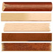stock photo of wood pieces  - Wooden materials - JPG