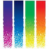Постер, плакат: Набор красочных вектор Вертикальные баннеры