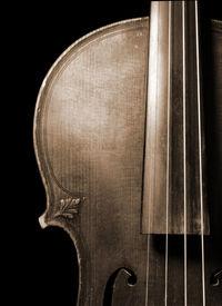 stock photo of musical instrument string  - Part of vintage violin - JPG