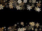 Winter Snowflakes Border Magic Vector Background.  Many Snowflakes Flying Border Design, Holiday Ban poster