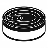 Tuna Can Icon. Simple Illustration Of Tuna Can Icon For Web Design Isolated On White Background poster