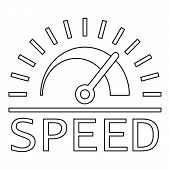 Speed Dashboard Logo. Outline Speed Dashboard Logo For Web Design Isolated On White Background poster