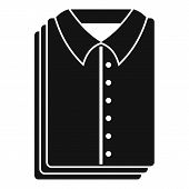 Clean Shirts Icon. Simple Illustration Of Clean Shirts Icon For Web Design Isolated On White Backgro poster