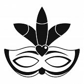 Carnival Mask Icon. Simple Illustration Of Carnival Mask Icon For Web Design Isolated On White Backg poster