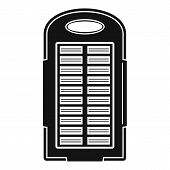 Power Bank Solar Panel Icon. Simple Illustration Of Power Bank Solar Panel Icon For Web Design Isola poster