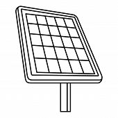 Solar Panel Icon. Outline Illustration Of Solar Panel Icon For Web Design Isolated On White Backgrou poster