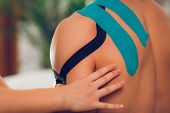 Shoulder Treatment With Kinesio Tape, Toned Image poster