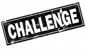Challenge Word With Black Frame, 3d Rendering poster