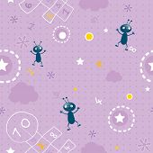 stock photo of hopscotch  - baby wallpaper - JPG