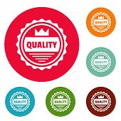 Big Quality Logo. Simple Illustration Of Big Quality Logo For Web poster