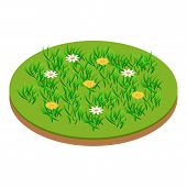 Meadow Icon. Isometric Illustration Of Meadow Icon For Web poster