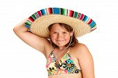 pic of halter-top  - Cropped image of a cute vibrant healthy 12 year old girl smiling widely - JPG