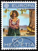 Postage stamp Switzerland 1975 Vineyard Worker by Maurice Barrau