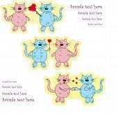 Постер, плакат: Смешно влюбленных кошки