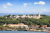 stock photo of constantinople  - Historical Topkapi Palace and Sepetciler Kasri in Istanbul - JPG