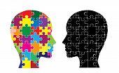 stock photo of cerebrum  - This image illustrates the use of brain hemispheres - JPG