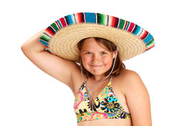 picture of halter-top  - Cropped image of a cute vibrant healthy 12 year old girl smiling widely - JPG