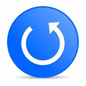 rotate blue circle web glossy icon