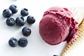 picture of gelato  - Gourmet mixed berry gelato on a white background - JPG