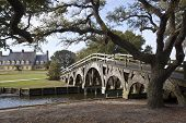 The boat basin footbridge at the Whalehead Club in Corolla, North Carolina in one National Register
