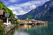 Hallstatt - small scenic village in Alps, Austria