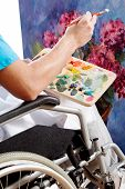 Disabled Painter Closeup