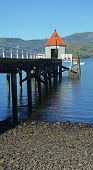 Portrait View Of Akaroa Pier, New Zealand