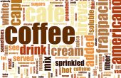 stock photo of latte coffee  - Coffee Artistic Menu as a Abstract Background - JPG