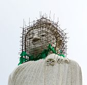The Biggest White Holy Buddha At Phuket, Thailand.