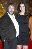 BERLIN - DEC 9: Peter Jackson, Katie Jackson at The Hobbit: The Desolation of Smaug - German premier