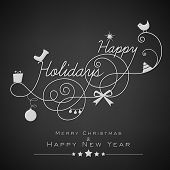 pic of new year 2014  - Stylish Happy Holidays text - JPG