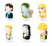 picture of wench  - An avatar people web or internet icon set series - JPG