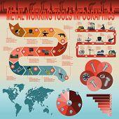 foto of ferrous metal  - Set of metal working tools Infographics - JPG