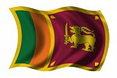 stock photo of sinhala  - Flag of Sri Lanka waving in the wind - JPG