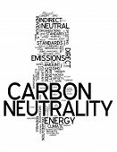 image of carbon-footprint  - Word Cloud with Carbon Neutrality related tags - JPG