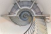 stock photo of inlet  - A spiral staircase winds to the top of Florida