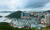 picture of typhoon  - Typhoon shelter in Hong Kong  - JPG